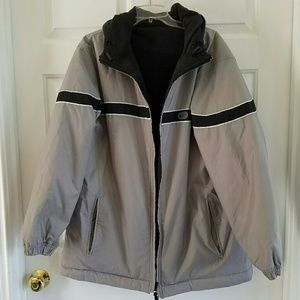 Nike/ reversible winter coat with hood